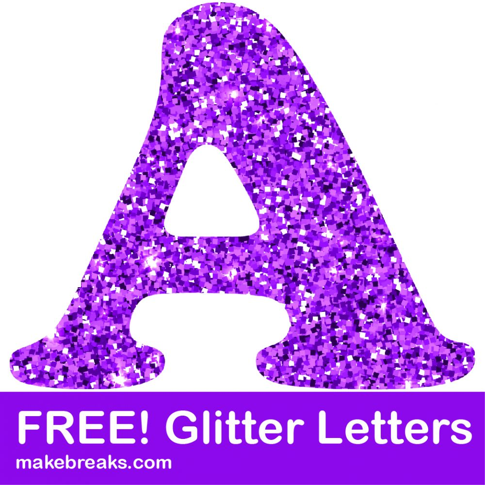 photo regarding Free Printable Clip Art Letters known as No cost Printable Crimson Glitter Letters towards Obtain - Crank out Breaks